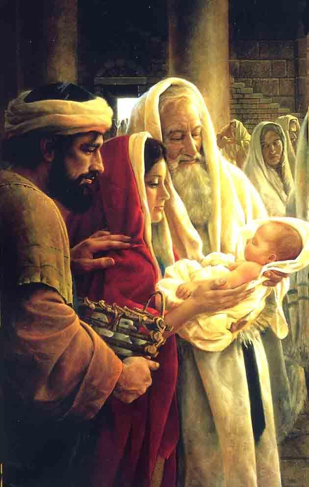 """Luka 2:34 """"Simeoni akawabariki, akamwambia Mariamu mama yake, Tazama, huyu amewekwa kwa kuanguka na kuinuka wengi walio katika Israeli, na kuwa ishara itakayonenewa"""