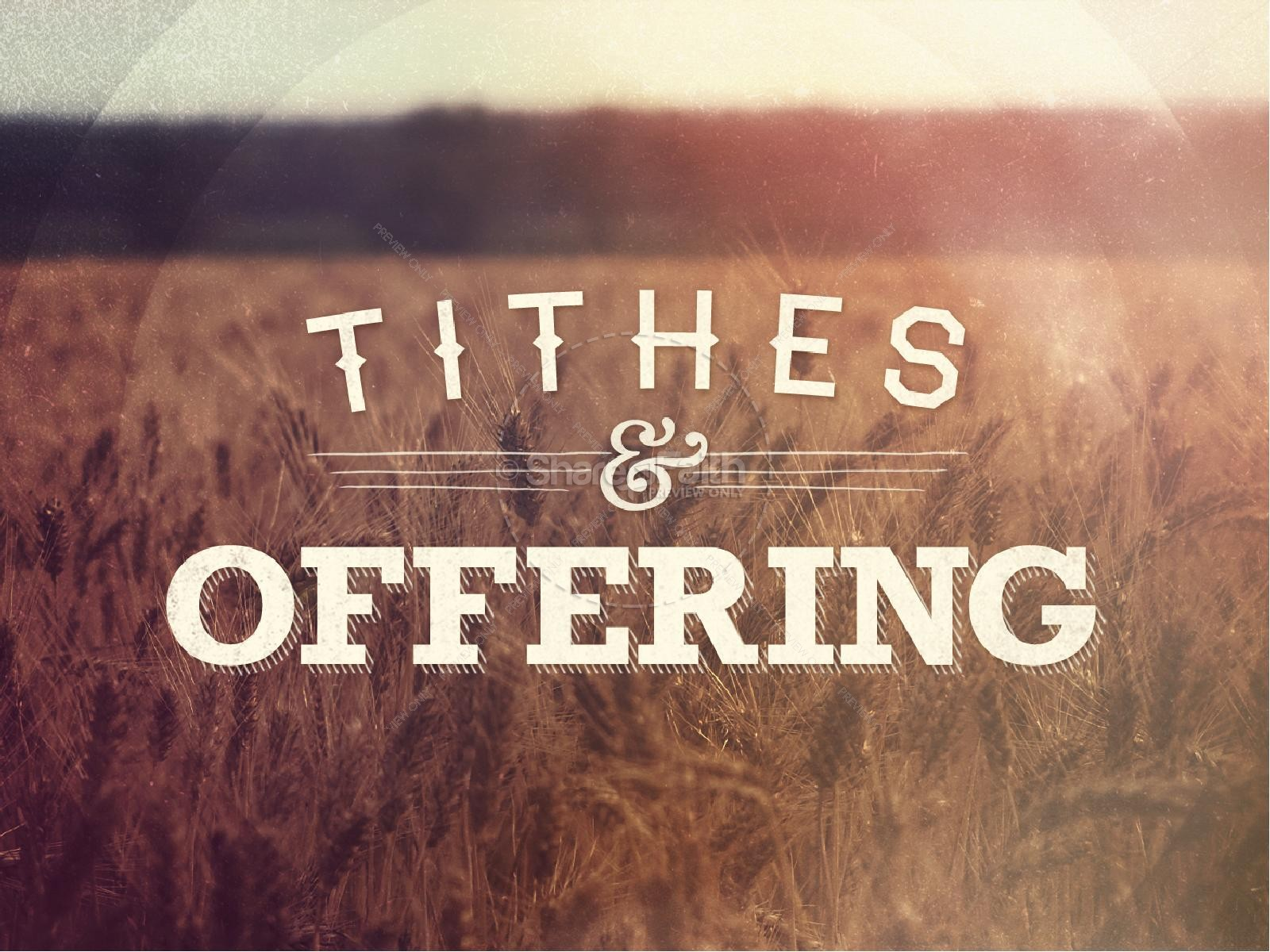 paying tithes